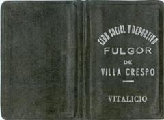 Carnét del Club Fulgor de Ernesto Guaglianone