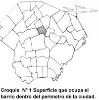 Croquis del barrio en el mapa de la ciudad