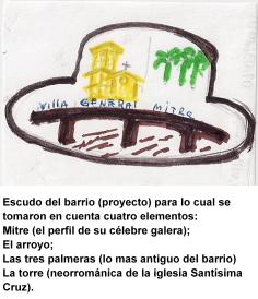 Escudo del barrio de Villa Mitre
