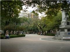 Plaza Pueyrredón en el barrio de Flores