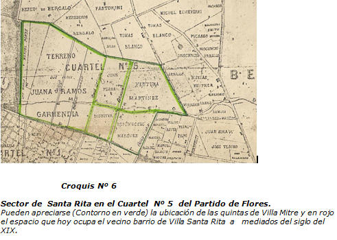 Croquis Nro. 6 - Alberto Pereira Ríos - Villa Gral. Mitre - Capítulo 3