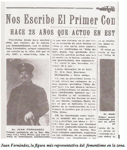 Juan Fernandez, una de las figuras más representativas de la zona