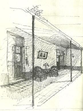LA CASA DE MI INFANCIA: El patio y la galería.