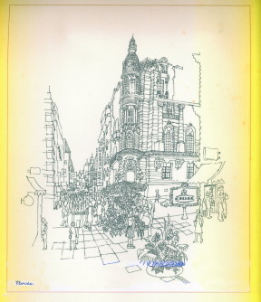 CORDOBA Y FLORIDA (Esta ilustración forma parte de un calendario de 1976)