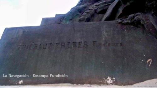 Mástil La Navegación - Plaza Sudamérica - Estampa de Fundición - Villa Riachuelo