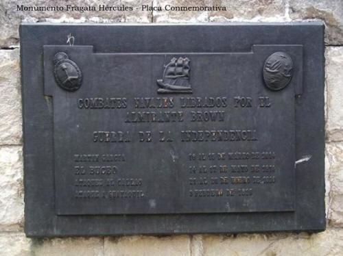 Mástil Naval - Monumento Fragata Hércules - Placa conmemorativa - Parque Ribera Sur - Villa Riachuelo