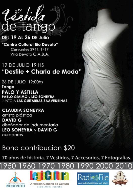 Vestida de Tango en el Centro Cultural Bio Devoto
