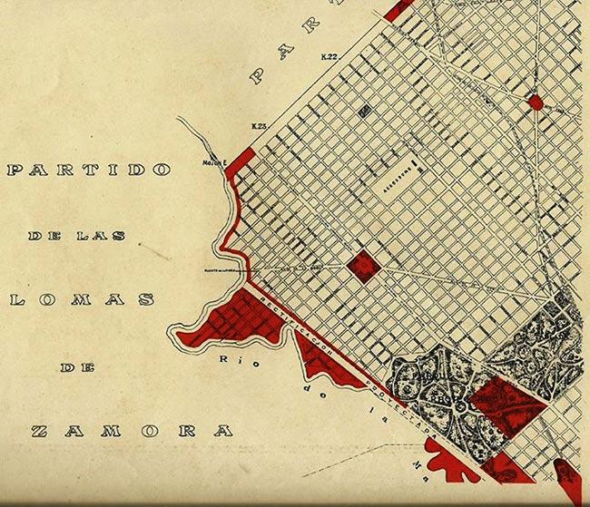 Calles desaparecidad de Villa Riachuelo por Jorge Resnik