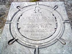 placa homenaje Alte Brown