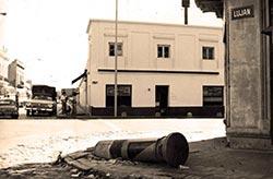 buzón derribado en Barracas