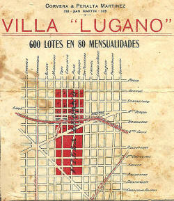 Primer Loteo del barrio de Villa Lugano
