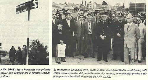 Acto inauguración calle Ana Díaz