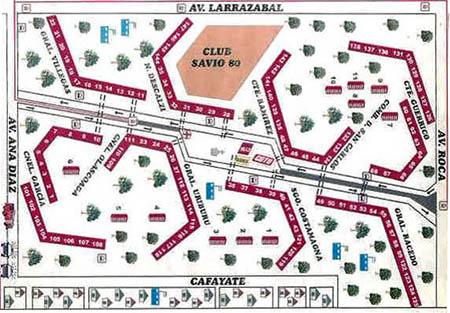 Plano de Calles Lugano I y II