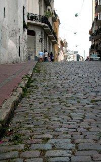 Adoquines en el barrio de San Telmo