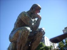 El Pensador, de Rodin, en plaza Congreso