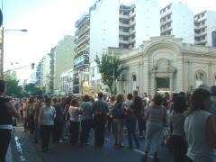 13 de diciembre de 2007, procesión por Santa Lucía, patrona del barrio de Barracas