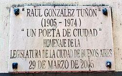 Placa homenaje de la Legislatura de la Ciudad de Buenos Aires