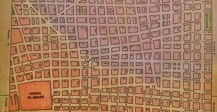 plano 2 zona del Arsenal de Guerra y limite con San Cristobal.