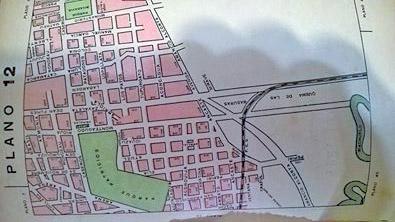 plano 1 zona central del barrio y limite con Nueva Pompeya.