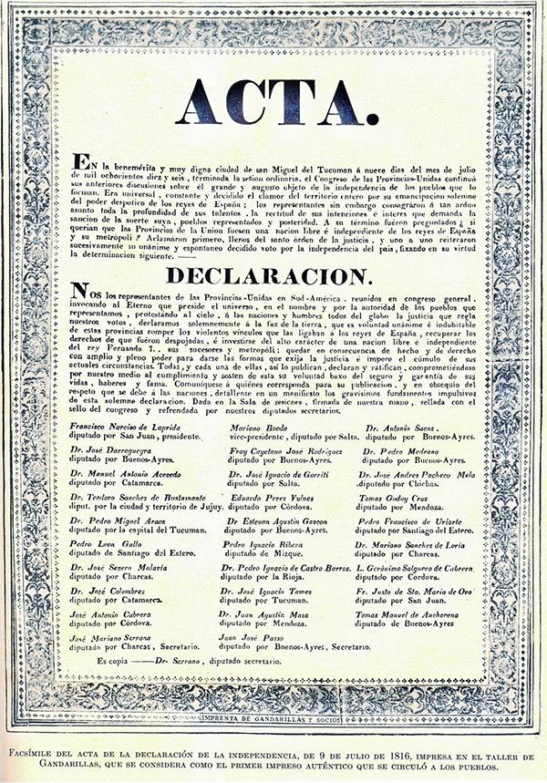 Acta Argentina de Independencia