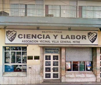 """Asociación Vecinal """"Villa Mitre"""" y biblioteca """"Ciencia y Labor"""""""