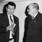 1978- El Presidente de la Junta, Dr. S. Mohamed con el Secretario de Acción Social