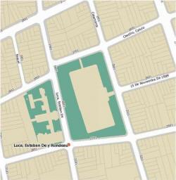 mapa obtenido por dirección, en el sitio del Gobierno de la Ciudad de Buenos Aires, del predio en el cual se encuentra la maternidad Sardá