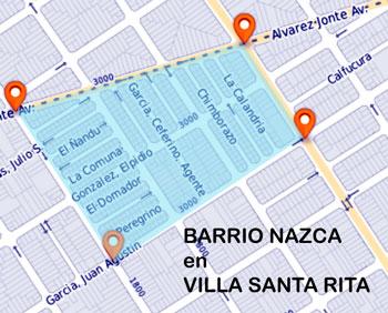 barrio Nazca en Villa Santa Rita