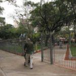 Plaza Almagro enrejada