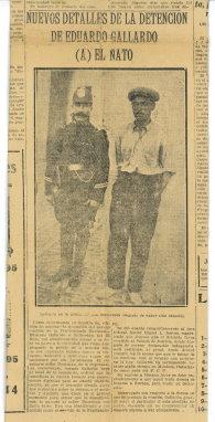 Diario Crítica - 1924 - Nuevos detalles de la detención del Ñato Gallardo