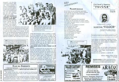 Revista Días de Barrio, reportaje a Luis Vicente Guaglianone