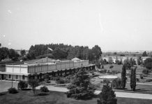 Facultad de Agronomía y Veterinaria. Pabellones y Jardines. Marzo 1924