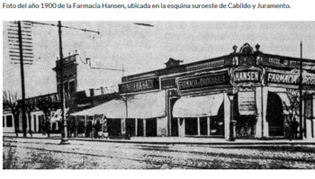1875 - Farmacia Hansen en Cabildo y Juramento