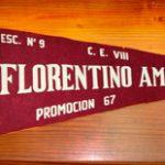Banderín egresado 1962 Colegio Florentino Ameghino de Horacio Norberto Pueblas