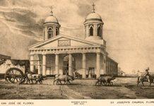 Primera Iglesia de Flores construida en 1831