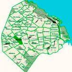 Floresta en el mapa de los barrios