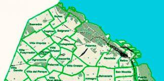 Liniers en el mapa de los barrios
