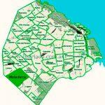 Mataderos en el mapa de los barrios