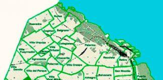 Monte Castro en el mapa de los barrios