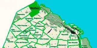 Núñez en el mapa de los barrios
