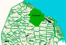 Palermo en el mapa de los barrios
