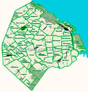 ParqueChas en el mapa de los barrios