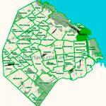 Retiro en el mapa de los barrios