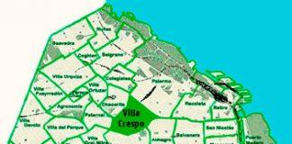 Villa Crespo en el mapa de los barrios