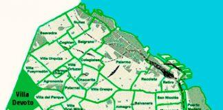 Villa Devoto en el mapa de los barrios