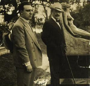 Carmelo Rizzo Baratta con Alfredo Palacios
