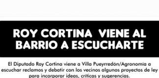 Roy Cortina se reune con vecinos de los barrios Agronomía y V. Pueyrredón