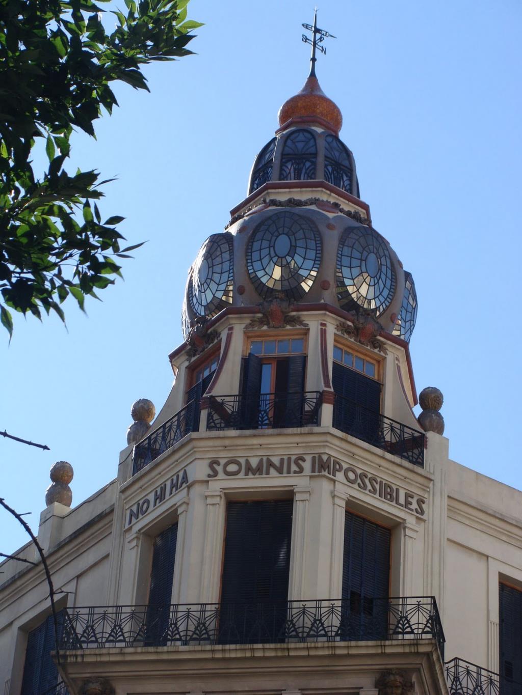 Cúpula del Edificio ubicado en Rivadavia y Ayacucho, obra del arquitecto Eduardo Rodríguez Ortega