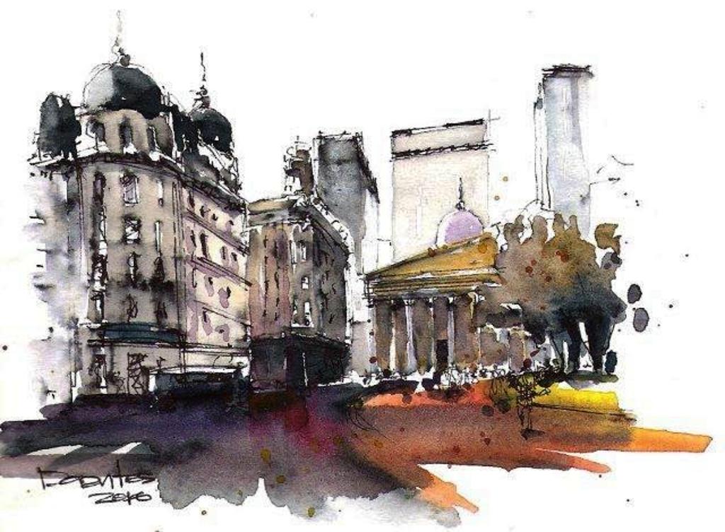 Mirando hacia la Catedral de Buenos Aires, desde Plaza de Mayo Autor: Arq. Norberto Dorantes
