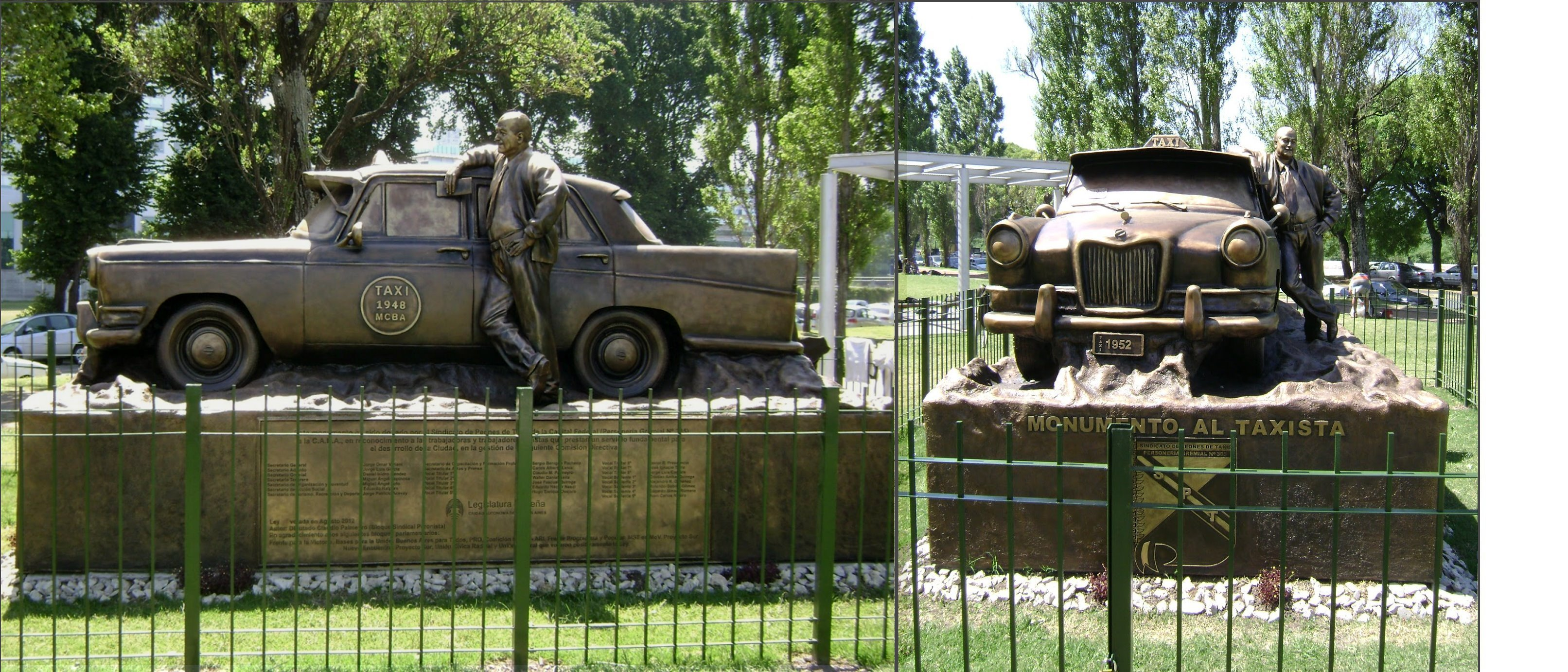 Monumento al Taxista en Macacha Güemes y Costanera en el barrio de Puerto Madero